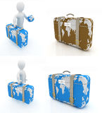 Suitcase for travel set Royalty Free Stock Photos
