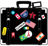 Suitcase for traveller. stock illustration