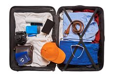 Suitcase for travelling stock photo