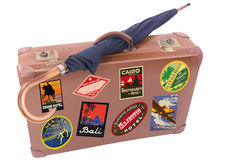 Suitcase and umbrella Royalty Free Stock Images