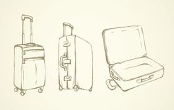 Suitcase. Vector drawing Stock Photo