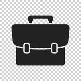 Suitcase vector icon. Luggage illustration in flat style Royalty Free Stock Photo