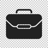 Suitcase vector icon. Luggage illustration in flat style Stock Image