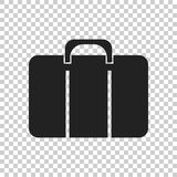 Suitcase vector icon. Luggage illustration in flat style Stock Images
