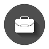 Suitcase vector icon. Luggage illustration in flat style Stock Photo