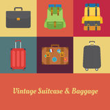Suitcase Vintage royalty free stock photos