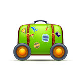 Suitcase on wheels Royalty Free Stock Images