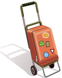 Suitcase on wheels Stock Photo