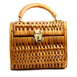 Suitcase wicker Stock Images