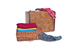 Suitcase and trunk Royalty Free Stock Images
