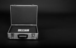 Free Suitcase With A Bunch Of Money Royalty Free Stock Image - 24858246