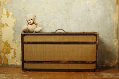 Suitcase With Teddy Royalty Free Stock Photo