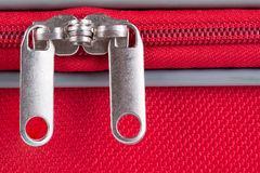 Suitcase zipper Stock Photo