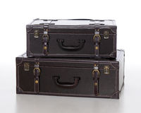 Suitcases 002. A set of leather suitcases Royalty Free Stock Photo