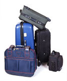 Suitcases. A stack of suitcases isolated on white background Royalty Free Stock Photo