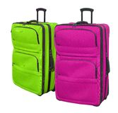 Suitcases 3. Two modern style travel suitcases in bright colors Royalty Free Stock Photos