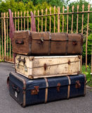 Suitcases. Old Suitcases Seven Valley Railway Royalty Free Stock Photos