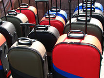 Suitcases. Colorful suitcases for sale in a shop Royalty Free Stock Image