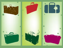 Suitcases. Abstract colored background with various suitcases Royalty Free Stock Photography