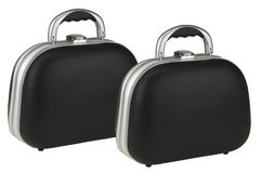 Suitcases. The suitcase in front has a clipping path Royalty Free Stock Images