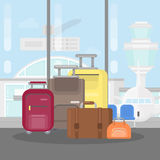 Suitcases at the airport. Stock Photo