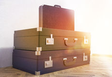 Suitcases and briefcase toning Stock Photo
