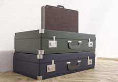 Suitcases and briefcase Stock Photos