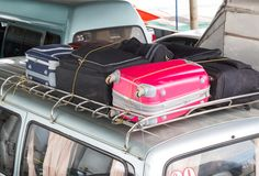 Suitcases on the car Royalty Free Stock Image