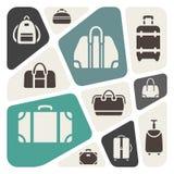Suitcases icons background  illustration Royalty Free Stock Image