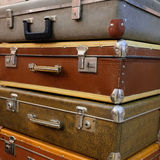 Suitcases. The image of retro style suitcases Stock Image