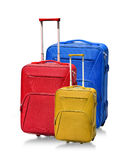 Suitcases isolated on white Royalty Free Stock Photos