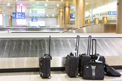Suitcases and luggage band Royalty Free Stock Photo