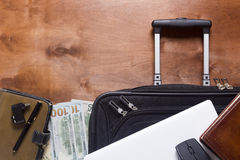 Suitcases and luggage for business travel Royalty Free Stock Photos