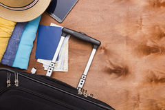 Suitcases and luggage for business travel Royalty Free Stock Photography
