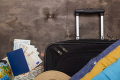 Suitcases and luggage for business travel Stock Image