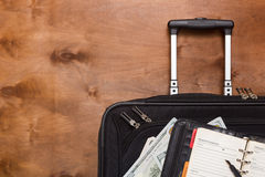 Suitcases and luggage for business travel Stock Photography