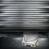 Suitcases with money Stock Image