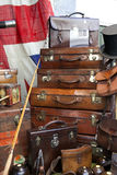 Suitcases near vintage shop Stock Photo