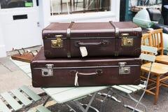 Suitcases near vintage shop at Portobello Market Stock Photography