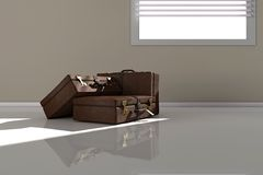 Suitcases near window Stock Images