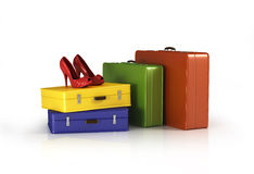 Suitcases with Royalty Free Stock Photos