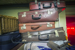 Suitcases Retro Photo. Vintage Suitcases Heap Retro Photo royalty free stock photography