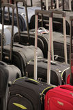Suitcases for sale. Row of cheap suitcases for sale on a Brixton market Stock Photography