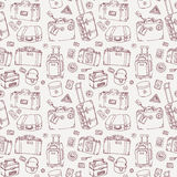 Suitcases. Seamless background. Royalty Free Stock Photos