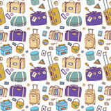 Suitcases. Seamless background. Royalty Free Stock Images