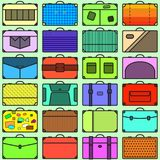 Suitcases Seamless Pattern royalty free stock photos
