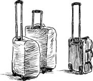 Suitcases sketch Royalty Free Stock Photography