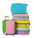 Suitcases stack Stock Images