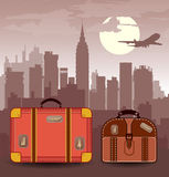 Suitcases for travel Royalty Free Stock Photography