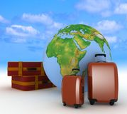 Suitcases for travel Royalty Free Stock Photo